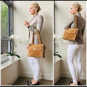 Chanel CC Brown Suede Shoulder Bag
